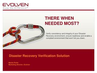 Disaster Recovery Verification Solution