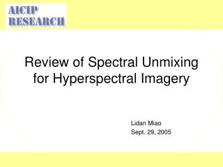 Review of Spectral Unmixing for Hyperspectral Imagery
