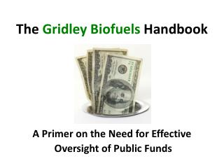 A Primer on the Need for Effective  Oversight of Public Funds