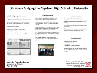 Librarians Bridging the Gap-from High School to University