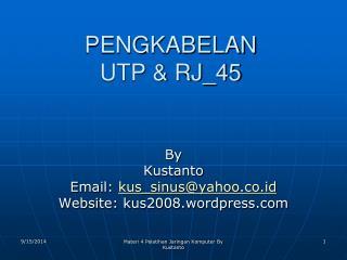 PENGKABELAN UTP & RJ_45