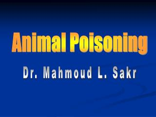 Animal Poisoning
