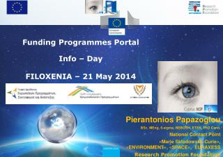 Funding Programmes Portal Info – Day FILOXENIA –  21 May  2014