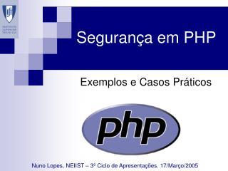 Segurança em PHP