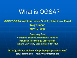What is OGSA?