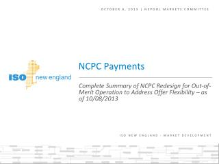 October 8, 2013 | NEPOOL markets committee