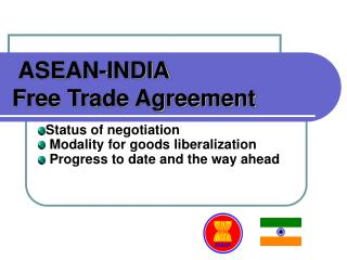 ASEAN-INDIA Free Trade Agreement