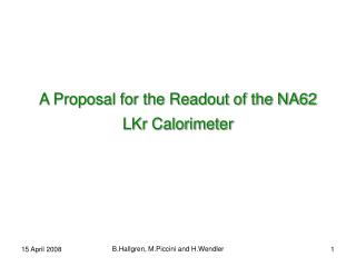 A Proposal for the Readout of the NA62 LKr Calorimeter