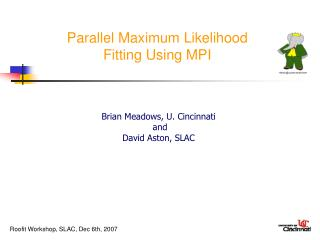 Parallel Maximum Likelihood  Fitting Using MPI