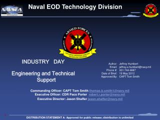 INDUSTRY   DAY Engineering and Technical Support