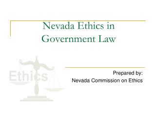 Nevada Ethics in  Government Law