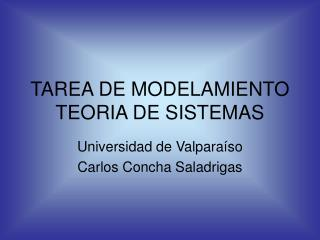 TAREA DE MODELAMIENTO TEORIA DE SISTEMAS