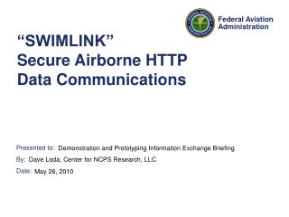 """SWIMLINK"" Secure Airborne HTTP Data Communications"