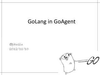 GoLang in GoAgent