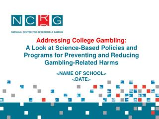 Addressing College Gambling:
