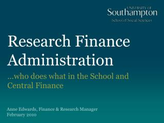 Research Finance Administration