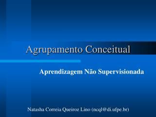 Agrupamento Conceitual