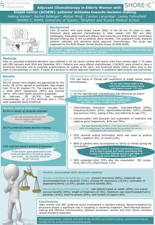 Adjuvant Chemotherapy in Elderly Women with