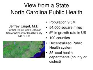 View from a State North Carolina Public Health