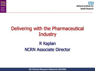 Delivering with the Pharmaceutical Industry