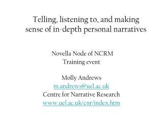 Novella Node of NCRM Training event