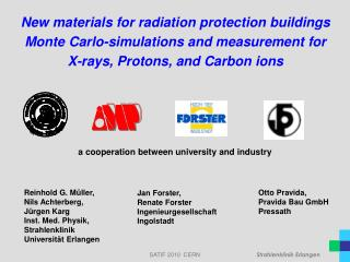 New materials for radiation protection buildings Monte Carlo-simulations and measurement for