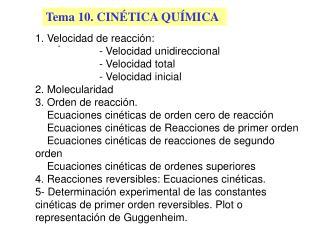 Tema 10. CIN TICA QU MICA