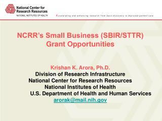 SBIR/STTR Program Mission