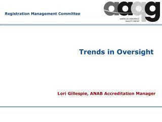 Trends in Oversight