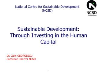 National Centre for Sustainable Development (NCSD)