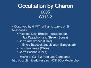 Occultation by Charon