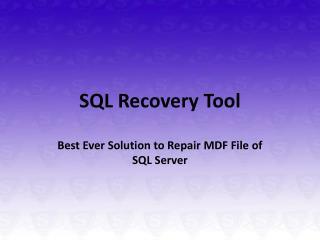 SQL Server Database Restore