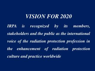 VISION FOR 2020