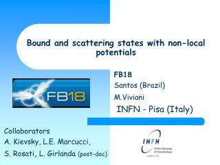 Bound and scattering states with non-local potentials
