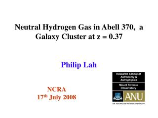Neutral Hydrogen Gas in Abell 370,  a  G alaxy  C luster at z = 0.37