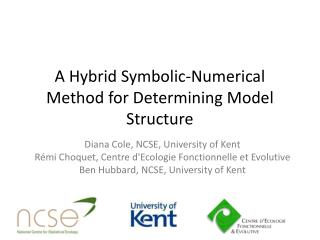 A Hybrid Symbolic-Numerical Method for Determining Model Structure