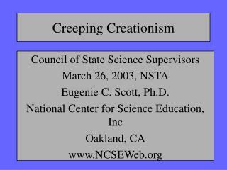 Creeping Creationism