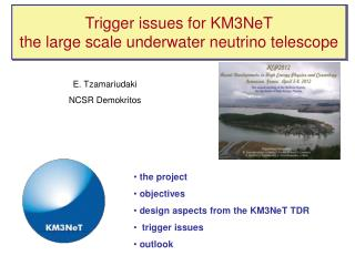Trigger issues for KM3NeT the large scale underwater neutrino telescope
