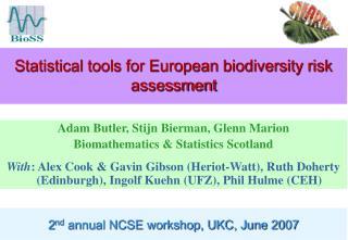 Statistical tools for European biodiversity risk assessment