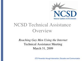 NCSD Technical Assistance Overview