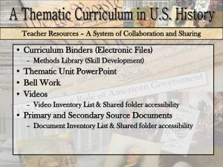 Teacher Resources – A System of Collaboration and Sharing