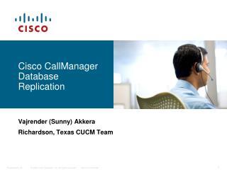 Cisco CallManager Database Replication