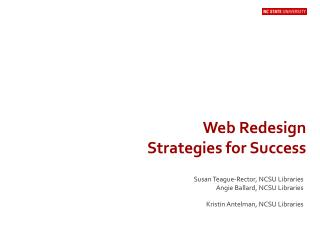 Web Redesign Strategies for Success