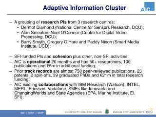Adaptive Information Cluster
