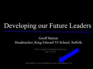 Geoff Barton Headteacher, King Edward VI School, Suffolk