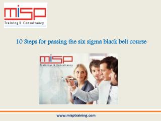 Lean six sigma black belt training course in Dubai