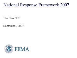 National Response Framework 2007