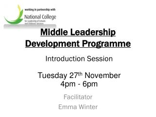 Middle Leadership Development Programme