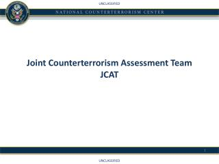 Joint Counterterrorism Assessment Team  JCAT