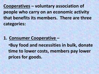 Service Cooperative  –